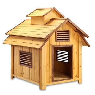 Pet Squeak Bird Dog Raised Wooden Dog House
