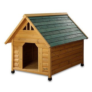 Pet Squeak Alpine Lodge Raised Wooden Dog House