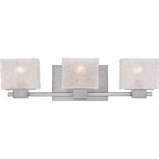 Melody Brushed Nickel Finish 3-light Bath Fixture