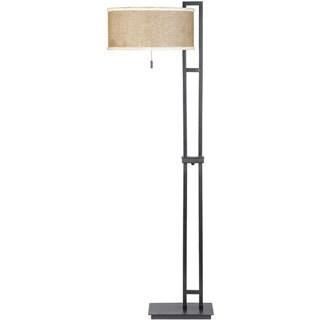 Zen Mystic Black Finish Floor Lamp