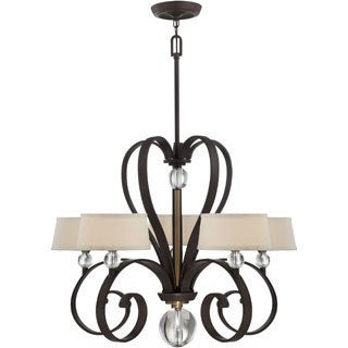 Uptown Madison Manor 5-light Western Bronze Finish Chandelier