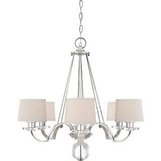 Uptown Sutton Place Imperial Silver Finish 6-light Chandelier