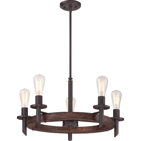 Tavern Darkest Bronze 5-light Chandelier