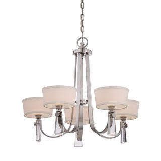 Uptown Bowery Imperial Silver Finish 5-light Chandelier