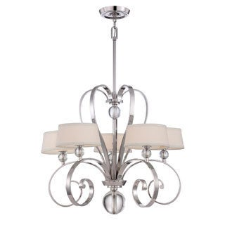 Uptown Madison Manor 5-light Imperial Silver Finish Chandelier
