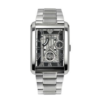 Armani Men's AR4246 Meccanico Silver Watch
