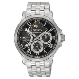 Seiko Men's SRX005P1 Premier Silvertone Stainless Steel Watch