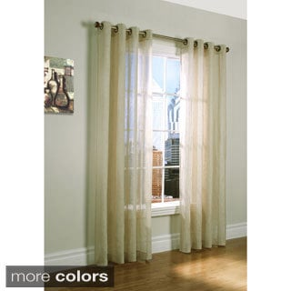 Belgium Linen Grommet Top 84-inch Curtain Panel