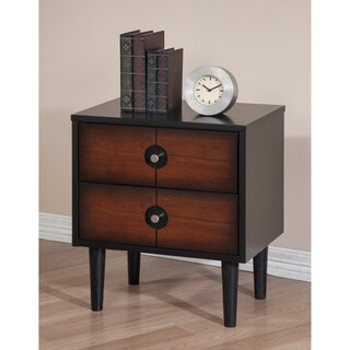 Allen Burnished Cherry 2-drawer Nightstand