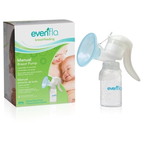 Evenflo Manual Breast Pump in White