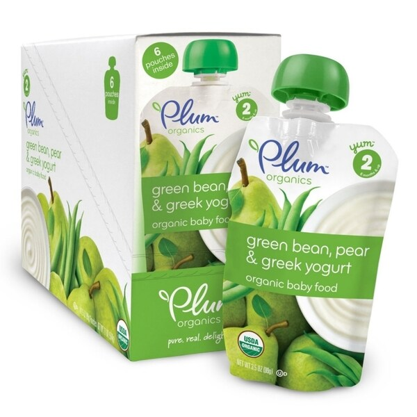 Plum Organics Second Blends Green Bean/ Pear/ Greek Yogurt 4-ounce Pouch (Pack of 6)