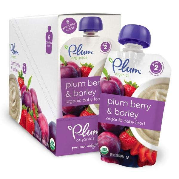 Plum Organics 2nd Blends Fruit Grain/ Plum Berry/ Barley 3.5-ounce Pouch (Pack of 6)