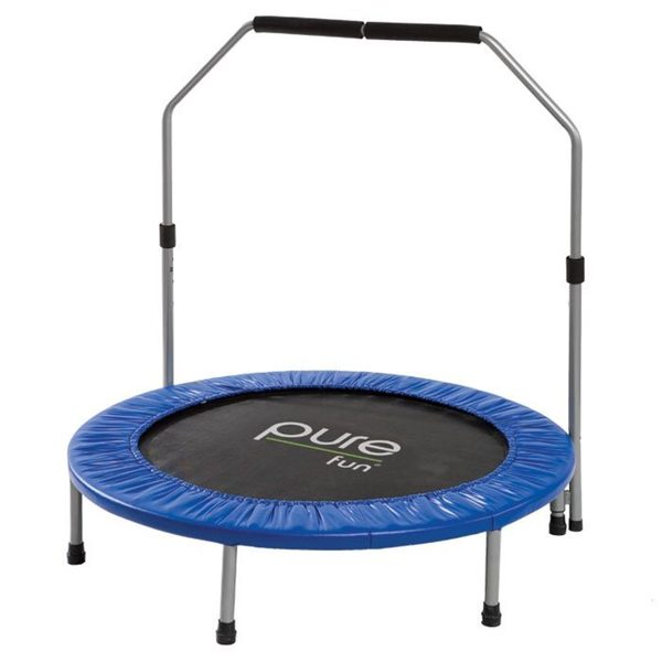 Pure Fun 40-inch Rebounder Trampoline with Hand Rail