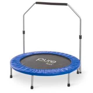 Pure Fun 40-inch Mini Rebounder Trampoline with Handrail