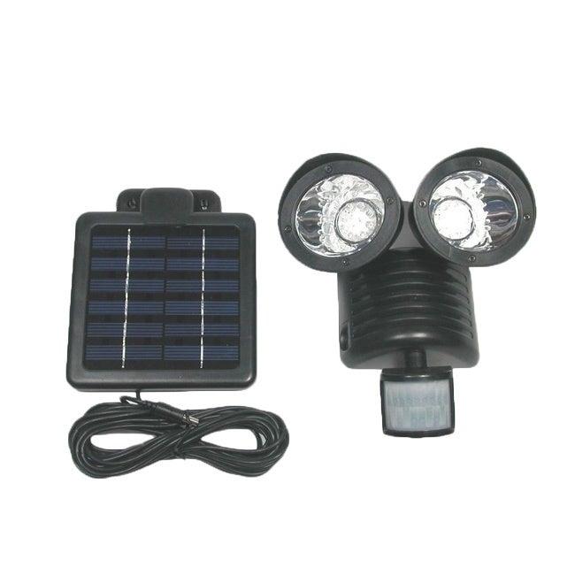 Tricod 22-LED Black Motion Sensor Security Solar Flood