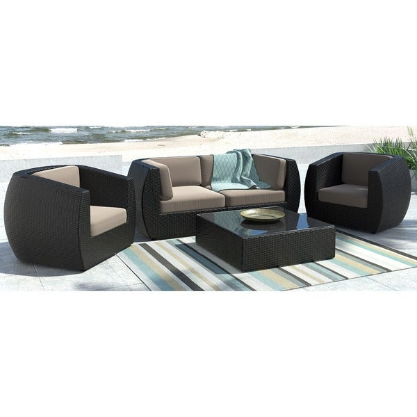 CorLiving Seattle Curved 5 piece Sofa and Chair Patio Set