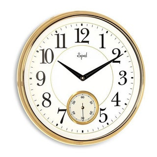Opal Traditional Oversize Gold Wall Clock