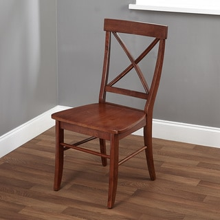 Simple Living Cherry Easton Cross-back Chair