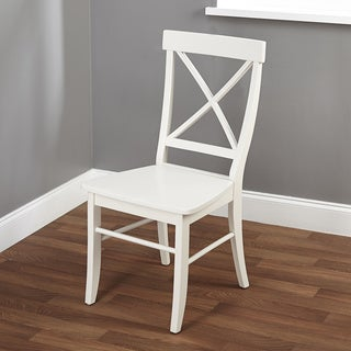 Easton Antique White Cross-back Chair