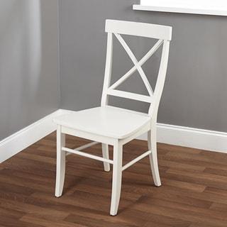 Simple Living Easton Antique White Cross-back Chair