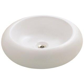 Polaris Sinks P021VB Bisque Pillow-top Porcelain Vessel Sink