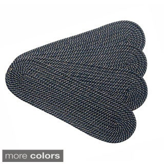 Malibu Braided Reversible Stair Treads (Set of 4)