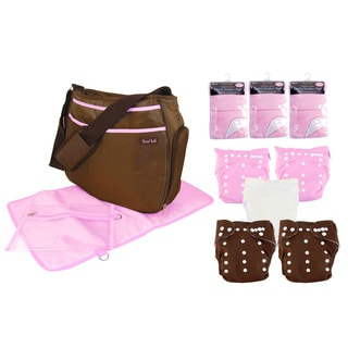Trend Lab 14-piece Pink Cloth Diaper Starter Kit