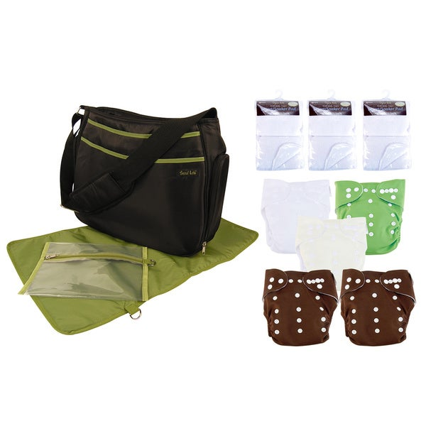 Trend Lab 14-piece Green Cloth Diaper Starter Kit