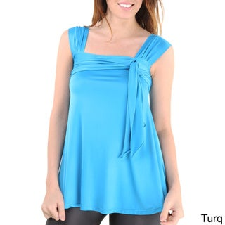 24/7 Comfort Apparel Women's Side-tie Tunic Tank Top