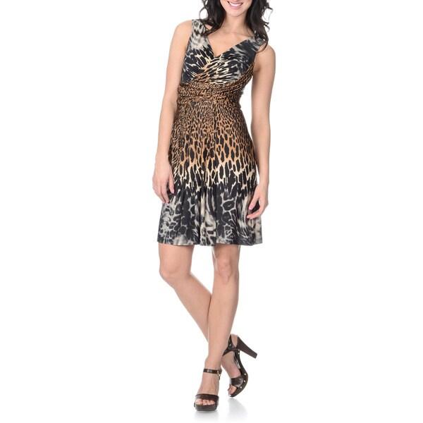 Sandra Darren Women's Sleeveless Animal Print Dress