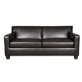 Sofab Mocha Brown Faux Leather Sofa