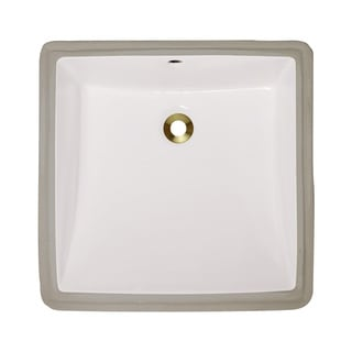 Polaris Sinks P0322UB Bisque Undermount Porcelain Bathroom Sink