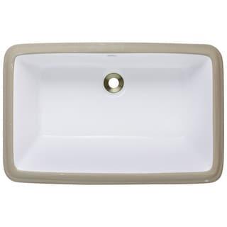 Polaris Sinks P2181UW White Undermount Porcelain Bathroom Sink