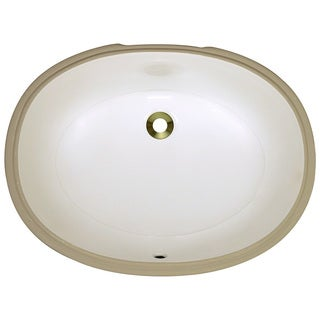 Polaris Sinks PUPLB Bisque Undermount Porcelain Bathroom Sink