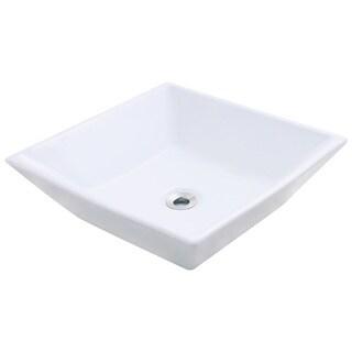 Polaris Sinks P071VW White Porcelain Vessel Sink