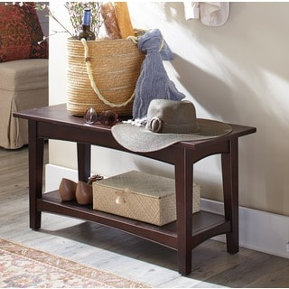 Fair Haven Wood 1-shelf Bench