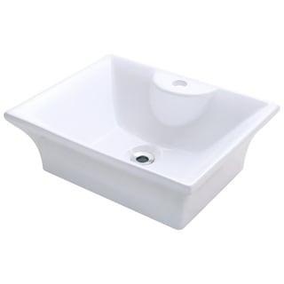 Polaris Sinks P051VW White Porcelain Vessel Sink