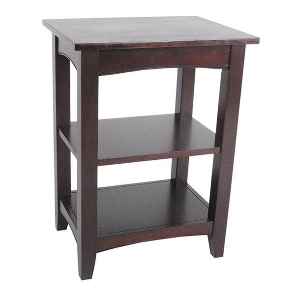 fair haven 2 shelf wood end table 16212152 overstock. Black Bedroom Furniture Sets. Home Design Ideas
