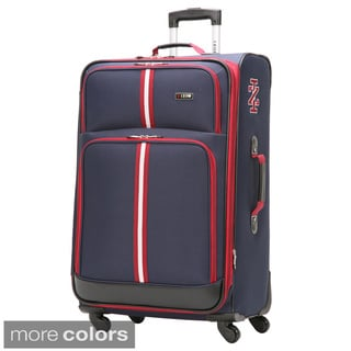 Izod Collegiate 28-inch Large Expandable Spinner Upright Suitcase