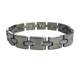 Thick Cable Cord Stainless Steel Magnetic Bracelet