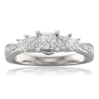 14k White Gold 1ct TDW Princess-cut 5-stone Diamond Ring (H-I, I1-I2)