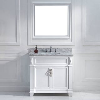 Victoria 36-inch White Single Square Sink Vanity Set