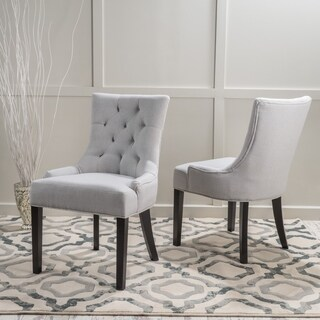 Christopher Knight Home Hayden Tufted Fabric Dining/ Accent Chair (Set of 2)
