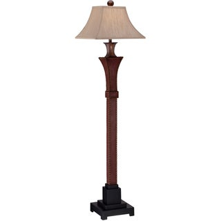 Stanley Dark Cinnamon Leather Floor Lamp