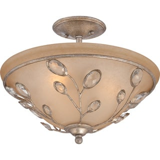 Wesley Italian Fresco Finish Large Semi Flush Mount Light Fixture