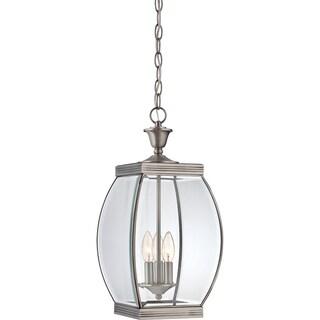 Oasis Pewter Finish Large Hanging Lantern