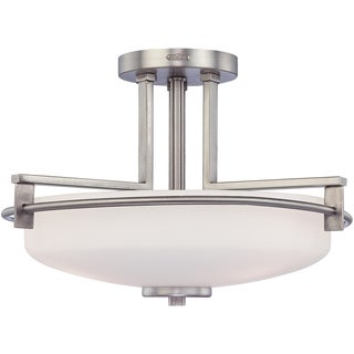 Taylor 3-light Large Antique Nickel Semi-flush Mount