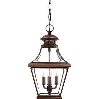 Carleton Medium 3-light Aged Copper Hanging Lantern