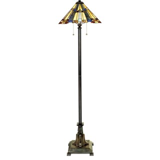 Inglenook 2-light Valiant Bronze Floor Lamp