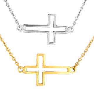 ELYA Stainless Steel Open Cross Necklace